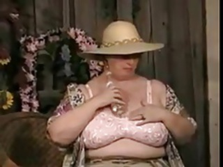 BBW hot Granny stripping and masturbate