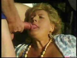 Mature Lady Gets Gangbanged