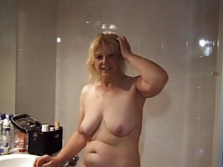 French Blonde Saggytits Amateur Bathroom Bathroom Tits