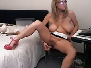 Hot, busty 48 year old mature teasing on webcam (no sound)