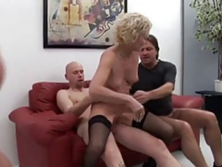 hot and horny granny got a gangbang