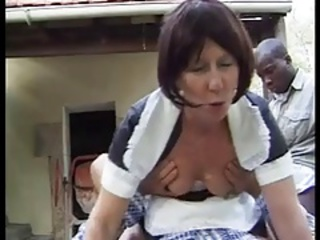 Interracial Maid Uniform Clothed Fuck French French Anal
