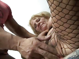 Close up Fisting Fishnet Fishnet Pantyhose