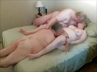 Older Cuckold Licking Amateur Grandma Grandpa
