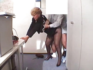 Office Pantyhose Clothed Doggy Ass Pantyhose