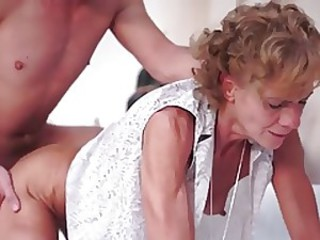 Skinny Small Tits Doggystyle Drilled Granny Young Old And Young