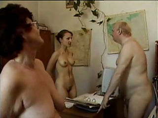 Office Nudist Secretary Old And Young
