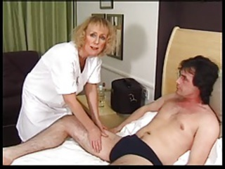 Uniform Doctor Mom Blonde Facial Blonde Mom Granny Blonde