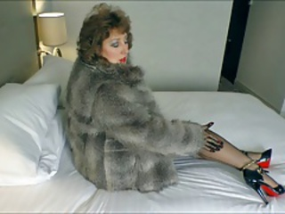 Stockings Babe.Seduction in Fur