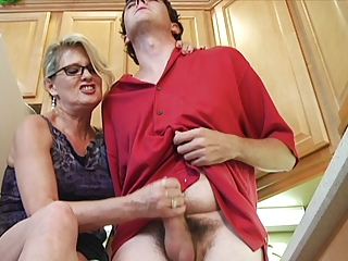 Handjob Kitchen Mom Old And Young