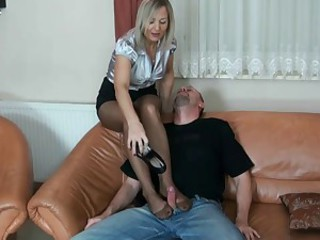 aged nylon spitting basement fetish and tugjob 7