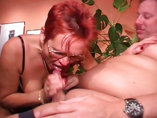 German Blowjob Glasses Blowjob Mature European German