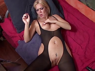Piercing Shaved Pantyhose European German German Mature