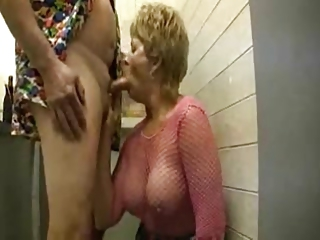 Blowjob in the mens room