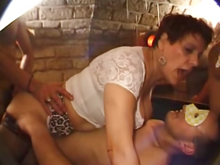 Double Penetration Gangbang Hardcore European French French Mature