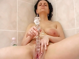 rub the pussy in bathroom