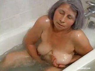 Granny likes to take a bath