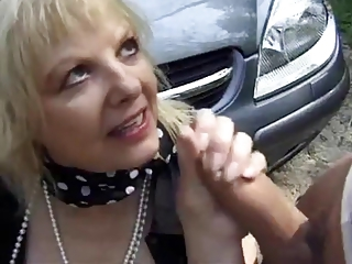 Car Handjob French European French French Mature