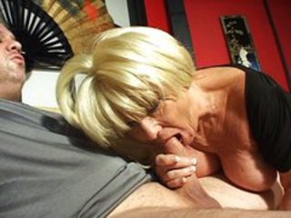 Blonde Blowjob Granny Blonde