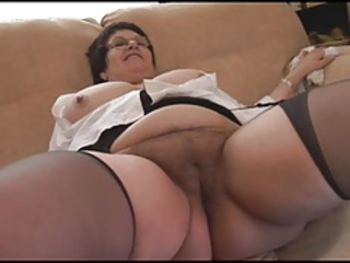 Close up Chubby Hairy Granny Hairy Granny Pussy Granny Stockings