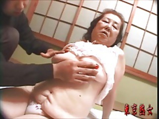 Japanese Asian Mom Granny Young Old And Young