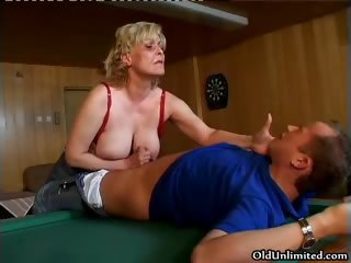 Nasty horny old mom with big part