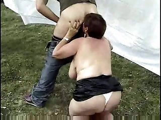 Farm Mom Licking Chubby Mature European Farm