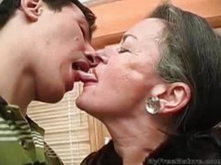 Kissing Old And Young Mom Cumshot Mature Grandma Granny Young