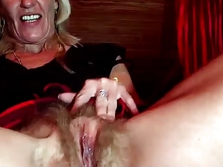 Close up Clit Pussy Blonde Mature Hairy Masturbating Hairy Mature