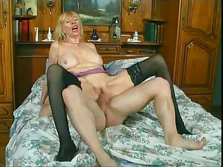 French Old And Young Riding European French French Mature