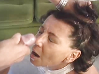 Milf Fucked and Facialized by Young Stud