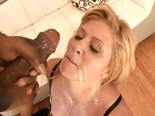 Swallow Cumshot Interracial Big Cock Milf Blonde Facial Blonde Interracial