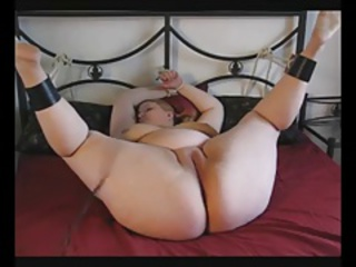 Horny BBW needs toys in both holes