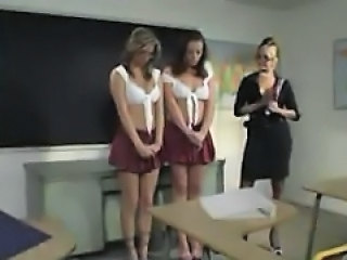 Sexy Schoolgirls And A Horny Teacher