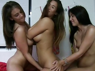 Lesbian Threesome College Sex Party