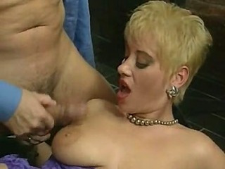 Amazing Blonde Cumshot