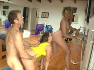 ass to mouth with two babes @ rocco's coming in america