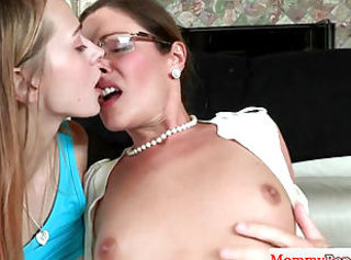 Threeway spex mother I'd like to fuck cockriding stepdaughter BF