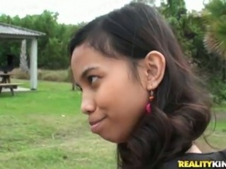 Cute Indian girl Amanda Putri picked up in the street got money for sex