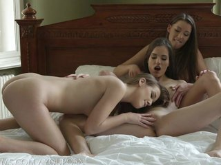 Nubile Films - Super sexy lesbian threesome