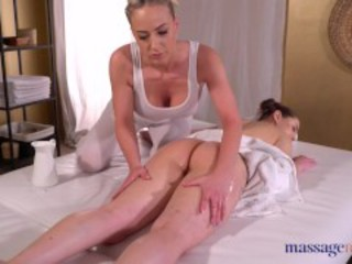 Massage Rooms Sybil Kailena and Nathaly Cherie oil drenched lesbian sex Sex Tubes