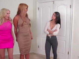 Mercedes Carreraand Christie Stevens - Lesbian Threesome Sex Tubes