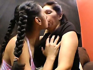 Brazilian Mature And Young Lesbians Kissing