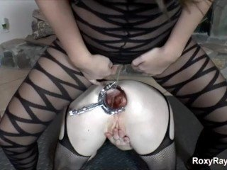 Roxy raye dirtygardengirl - wet double speculums and double anal fisting a