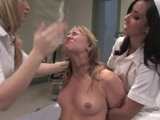 Aiden Starr gets just what she deserves from two sexy nurses