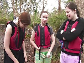Rafting girls sex in the rapids