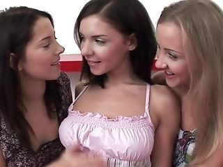 Adorable Trio By Sapphic Erotica - Lesbo Love Pornography With